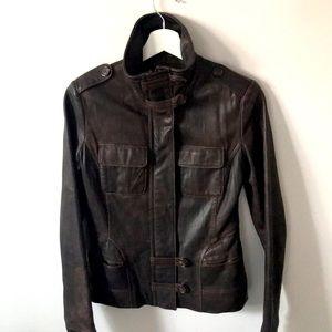 Brown 100% leather Danier jacket